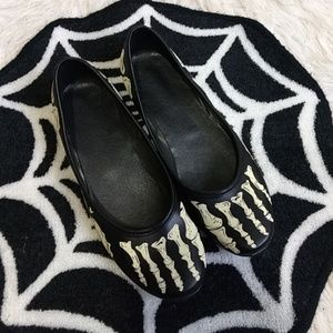 Shoes - Glow in the dark Skeleton flats ☠️👻💀